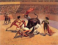 Bull Fight in Mexico, 1889, remington