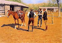 Buying Polo Ponies in the West, 1905, remington