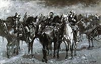 Cavalry in an Arizona Sandstorm, 1889, remington