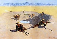 Fight for the Water Hole, 1903, remington