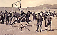 A Gander Pull, 1894, remington