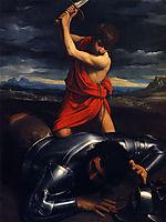 David and Goliath, 1610, reni