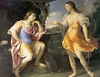 Encounter of Bradamante and Fiordispina, 1635, reni