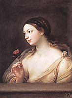 Girl with a Rose, reni