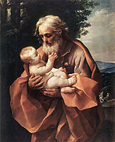 Saint Joseph with the infant Jesus, reni