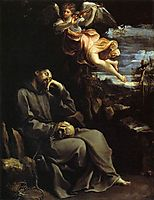 St Francis Consoled by Angelic Music, 1610, reni