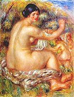 After the bath, 1912, renoir