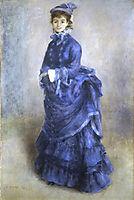 The Blue Lady, 1874, renoir