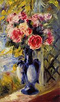 Bouquet of Roses in a Blue Vase, 1892, renoir