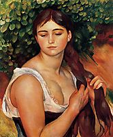 The Braid (Suzanne Valadon), 1886, renoir