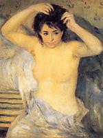 Bust of woman, 1872-1875, renoir