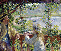 By the Water (Near the Lake), c.1880, renoir