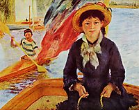 Canoeing (Young Girl in a Boat), 1877, renoir