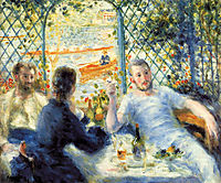 The Canoeist-s Luncheon, 1880, renoir