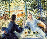 The Canoeist-s Luncheon, 1880, renoir