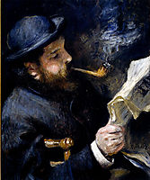 Claude Monet Reading, 1872, renoir