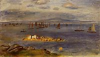 The Coast of Brittany, Fishing Boats, c.1878, renoir