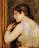 The Coiffure (Young Girl Combing Her Hair), 1896, renoir