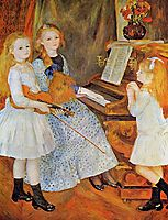The Daughters of Catulle Mendes, 1888, renoir