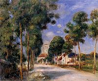 Entering the Village of Essoyes, 1901, renoir