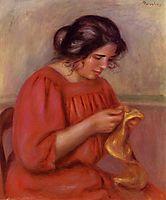 Gabrielle Mending, 1908, renoir