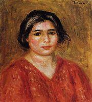 Gabrielle in a Red Blouse, 1913, renoir