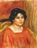 Gabrielle in a red blouse, c.1910, renoir