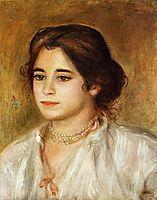 Gabrielle Wearing a Necklace, 1906, renoir