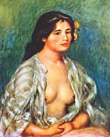 Gabrielle with open blouse, c.1907, renoir