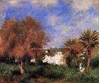 The Garden of Essai in Algiers, 1881, renoir