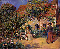Garden Scene in Brittany, 1886, renoir