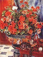 Geraniums and Cats, 1881, renoir