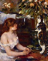 Girl and Cat, 1882, renoir