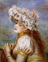 Girl in a Lace Hat, 1891, renoir