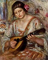 Girl with a Mandolin, 1918, renoir