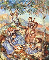 The grape pickers at lunch, c.1888, renoir