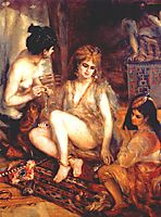 The Harem (Parisian Women Dresses as Algerians), 1872, renoir