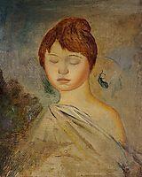 Head of a Young Woman, c.1887, renoir