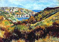Hills Around Moulin Huet Bay, 1883, renoir