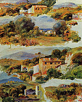 Houses at Cagnes, 1905, renoir