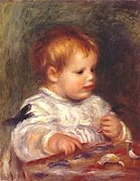 Jacques fray as a baby, 1904, renoir