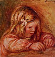 Jean Renoir Writing, c.1899, renoir