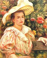 Lady with white hat, 1895, renoir