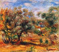 Landscape Near Cagnes, 1910, renoir