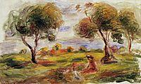 Landscape with Figures at Cagnes, c.1916, renoir
