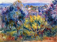 Landscape with a View of the Sea, renoir