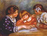 The lesson, 1906, renoir