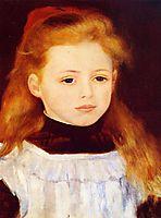 Little Girl in a White Apron (Portrait of Lucie Berard), 1884, renoir