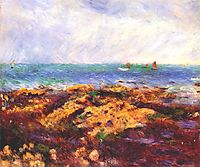 Low Tide at Yport, 1883, renoir