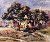 Medlar Trees, Cagnes, 1908, renoir
